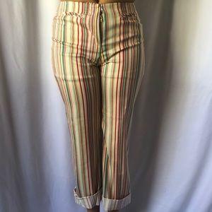 Anthropologie Elevenses multi color pants